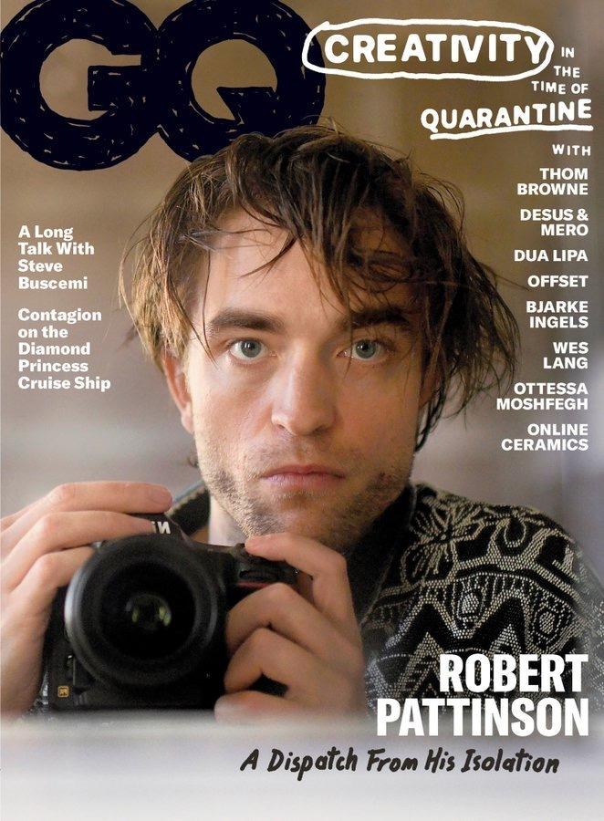 Robert Pattinson (self-portrait) for GQ Magazine.