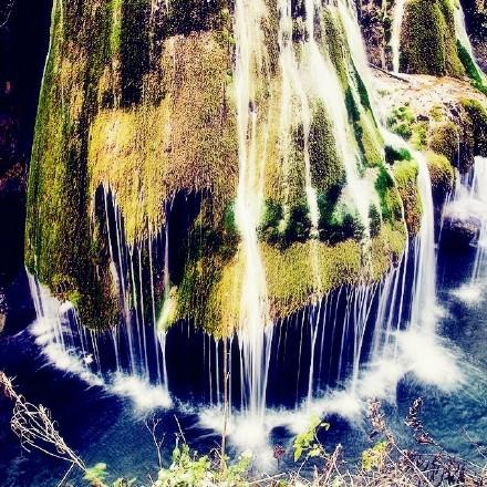 罗马尼亚比格尔瀑布。