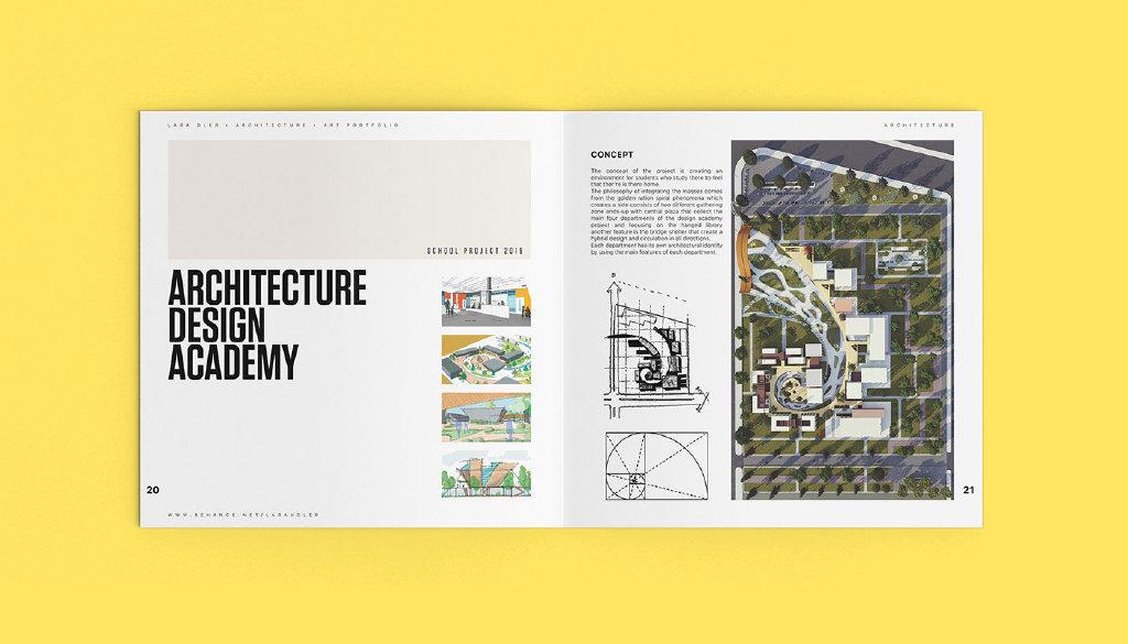 建筑设计作品集排版设计参考by:Larah Dler