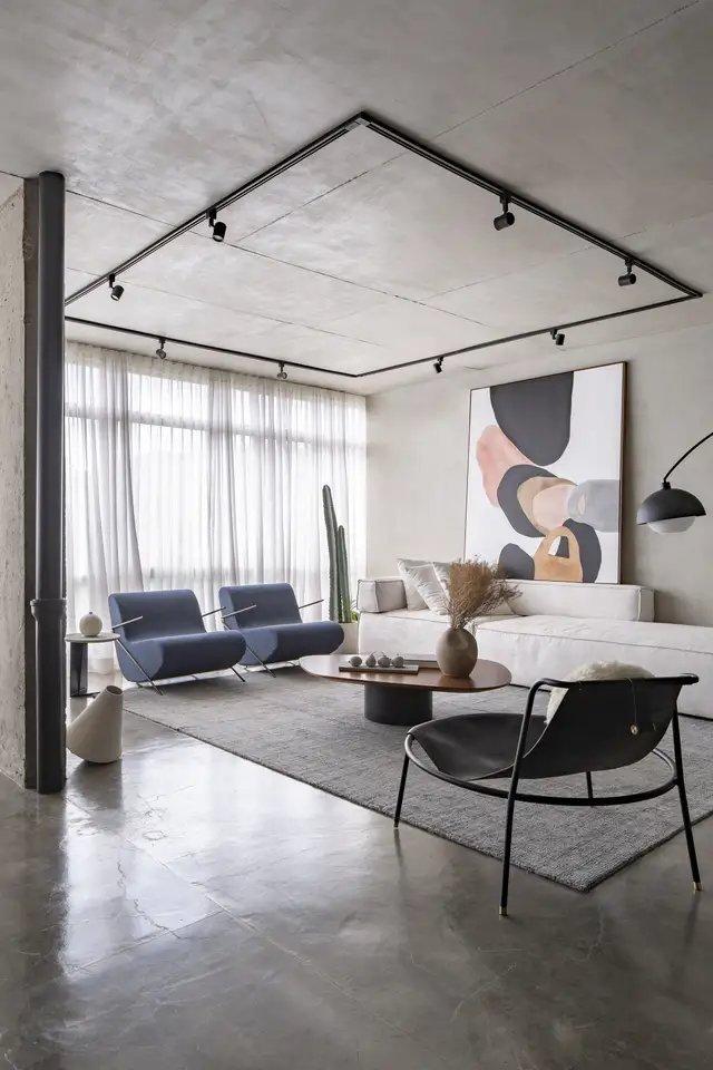 巴西利亚温暖明亮的水泥公寓