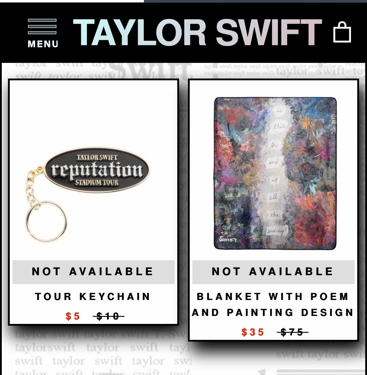 """霉霉Taylor Swift官网""""reputation""""周边定时返场"""