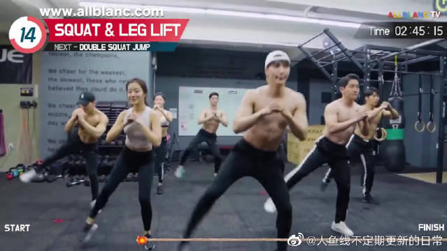 韩国帅哥最火训练视频tabata,健身减脂拉伸全身运动必备