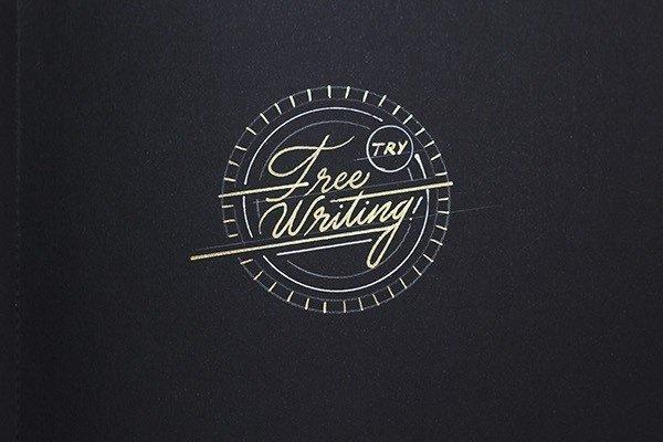 线条很美的手绘英文字体设计