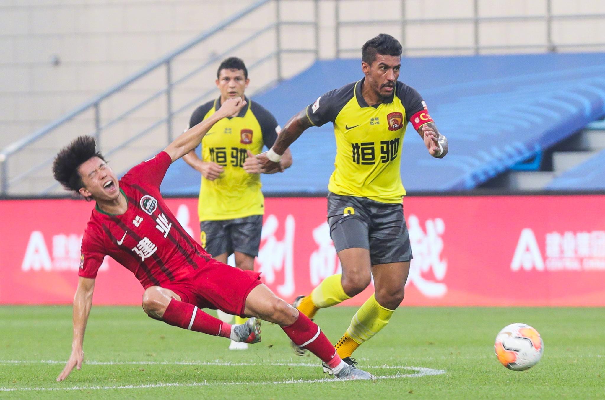 8月14日18:00,中超联赛第一阶段第五轮,广州恒大淘宝3