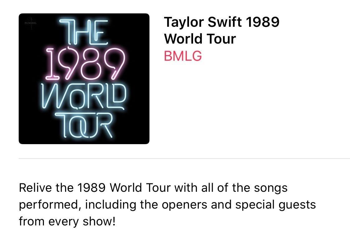 """在霉霉Taylor Swift的第五张专辑""""1989""""世界巡回演唱会在全球苹果音"""