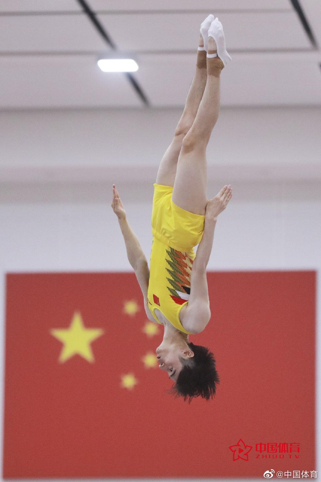 中国蹦床队东京奥运会模拟赛举行男子赛