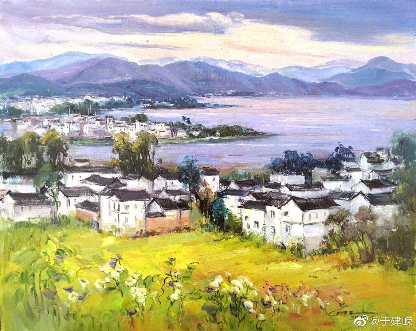 著名女艺术家蔡梅之油画作品—《大理洱海》 千百年来