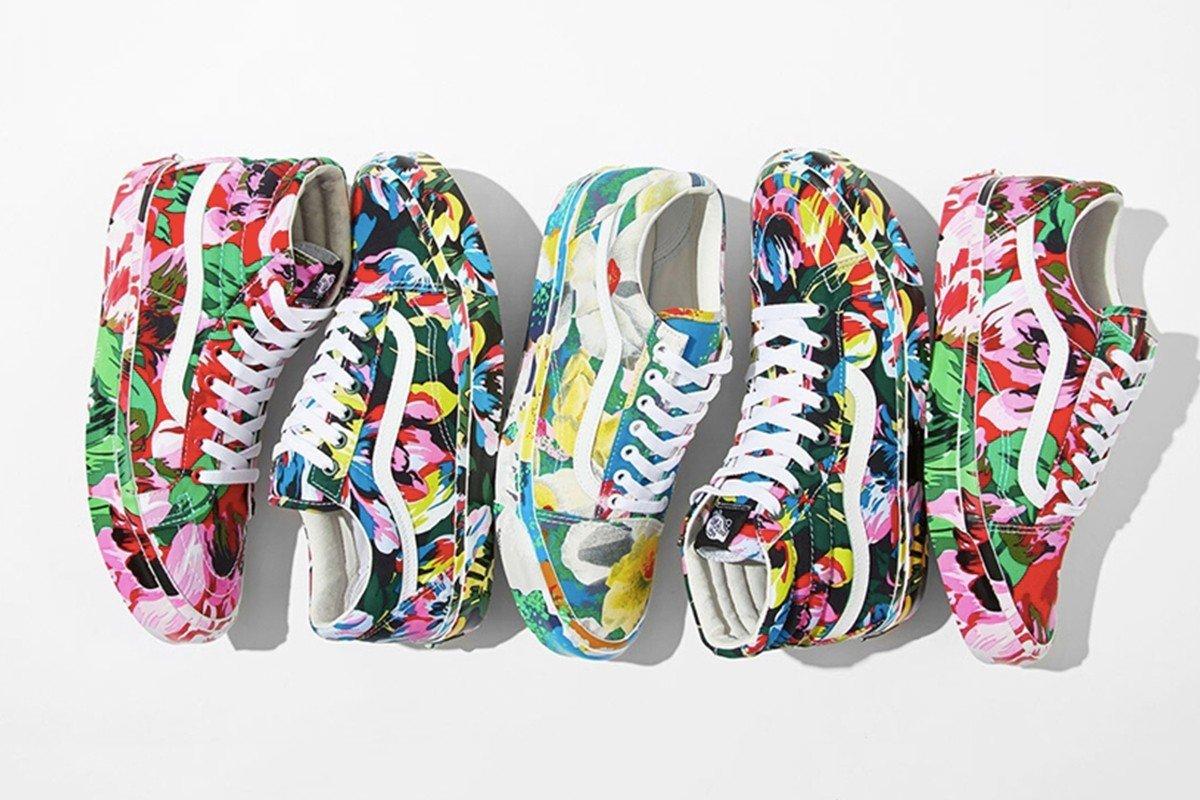 KENZO x Vans 推出别注 Floral 鞋款系列