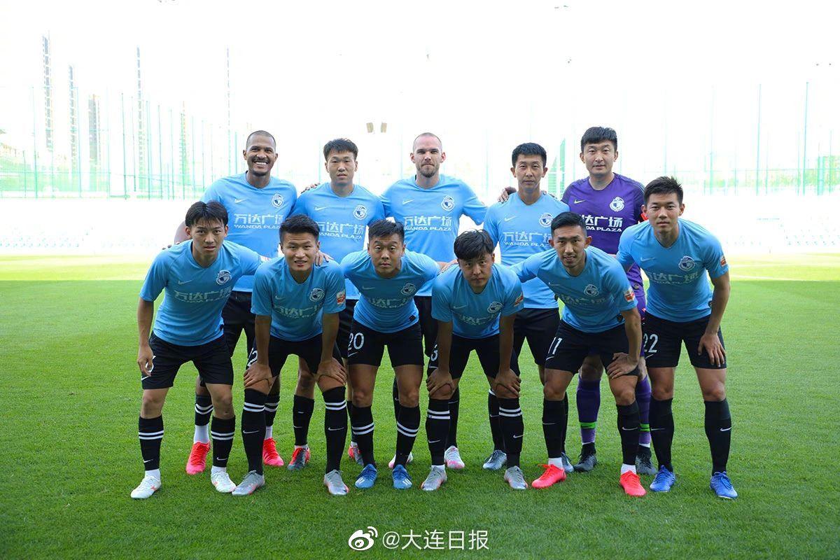 贝帅两套阵容测试球员 大连人热身赛1-1战平青岛黄海青港