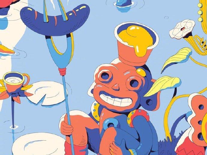 艺术家 Lena Vargas 色彩特别的插画作品。 (网络)