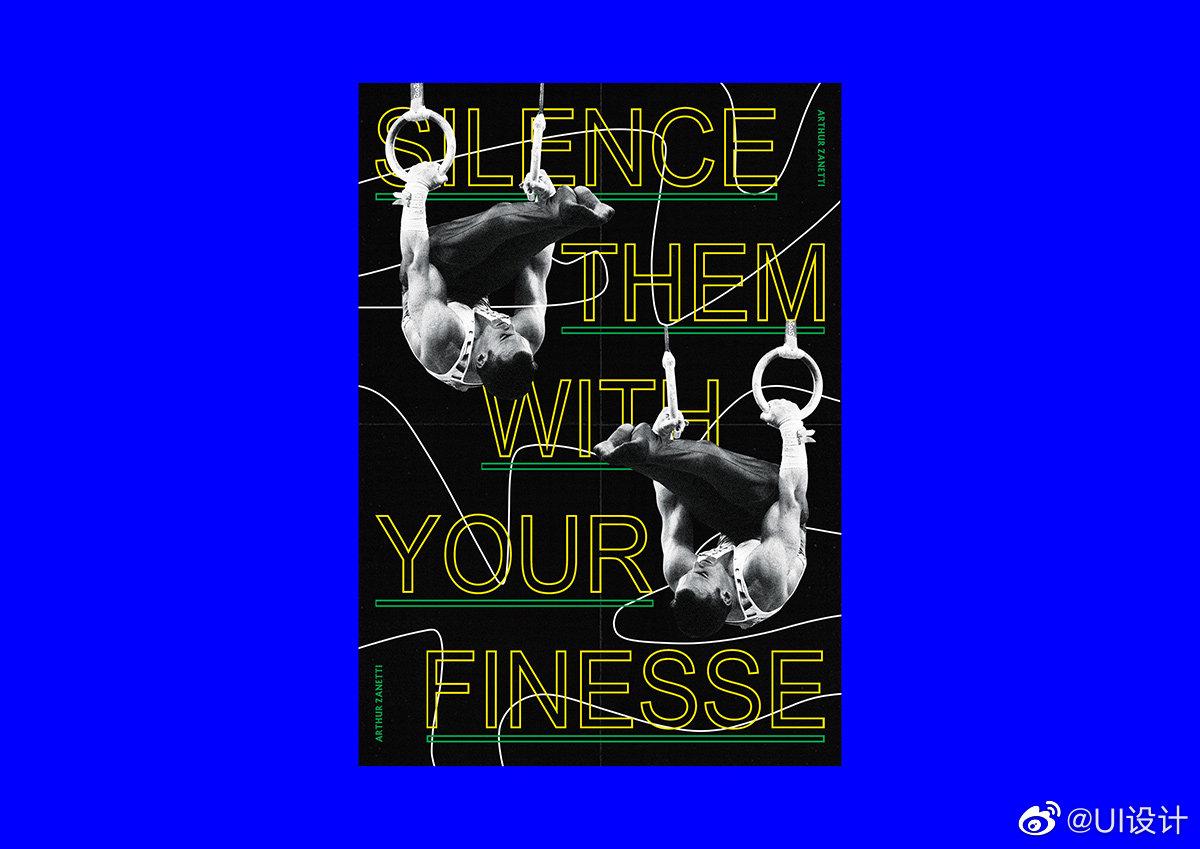 英国平面设计师 Dawn Broadbent 的系列纪念运动员的海报作品创意