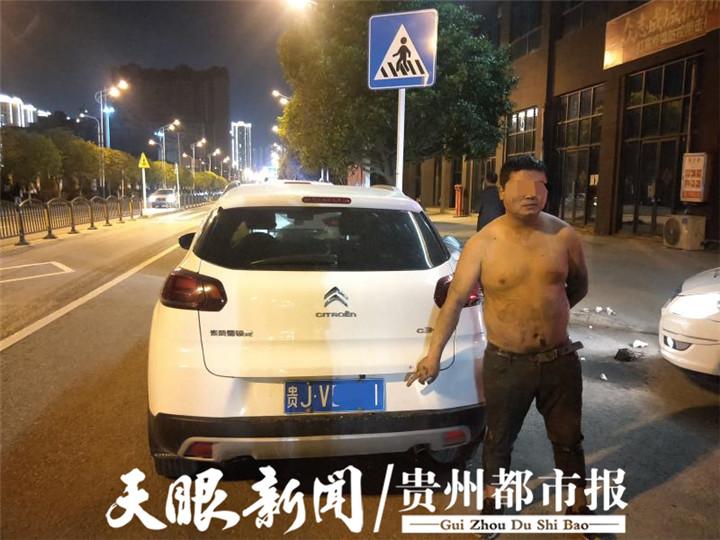 酒驾被查,男子慌不择路掉进臭水沟……