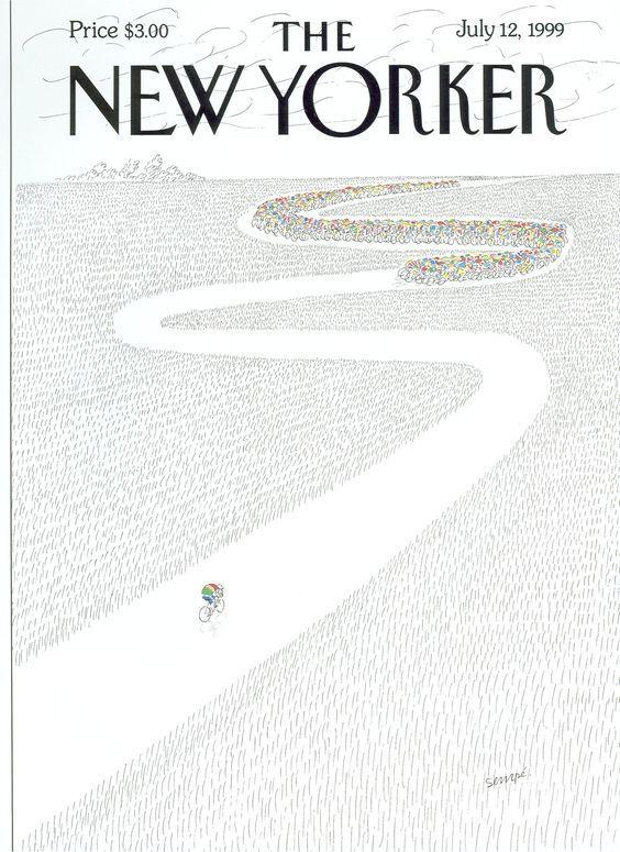 《纽约客》封面设计 | 插画大师Jean-Jacques Sempé
