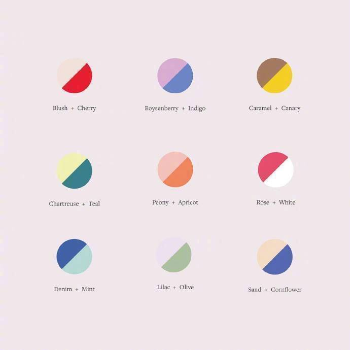 转需 ! 双色配色方案