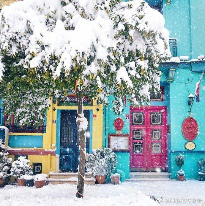 土耳其的雪景美得像童话世界。