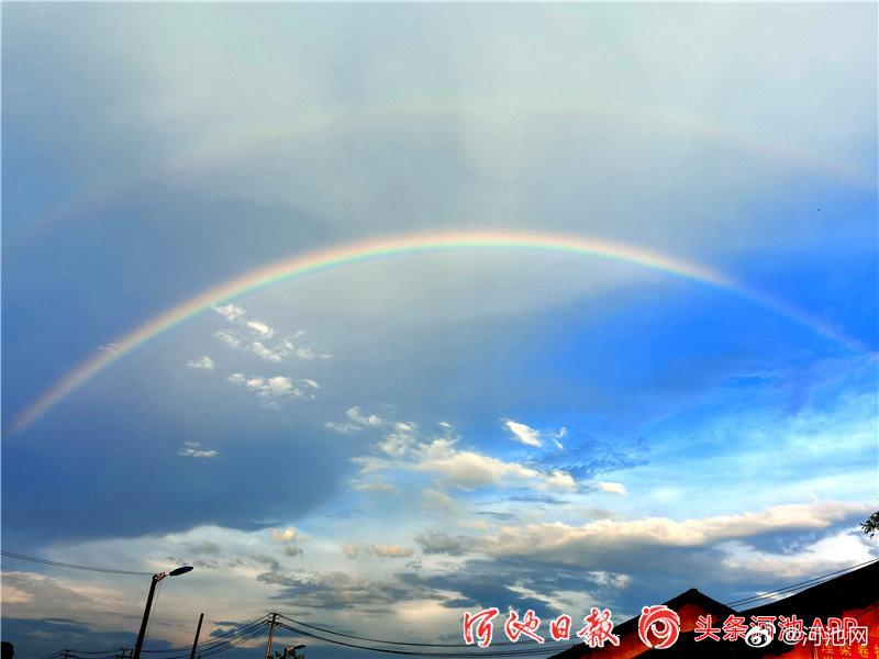 宜州雨后彩虹美翻了