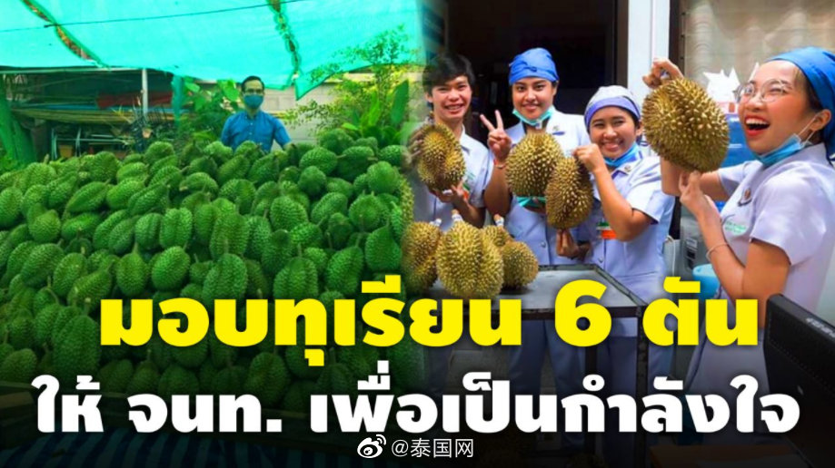 泰国善心人士为孔敬医院捐6吨榴莲助力抗疫