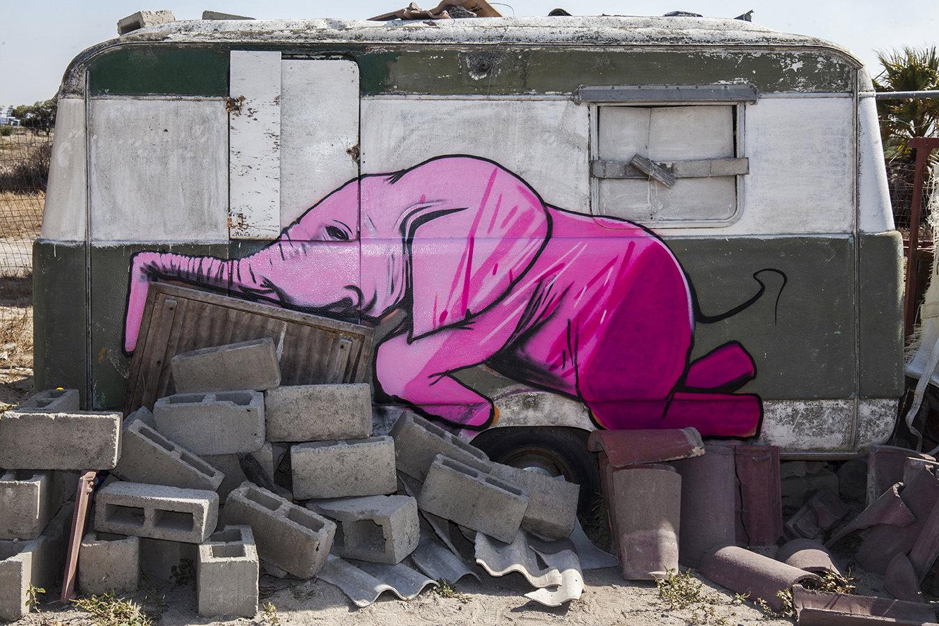 大象的家南非街头艺术家 Falko One