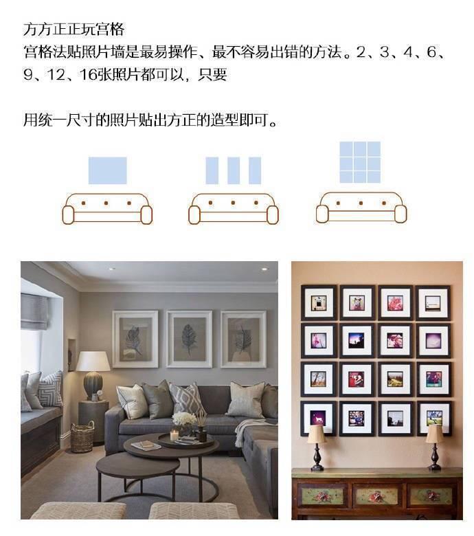 多款照片墙参考案例,教你挂出好看的墙面   :