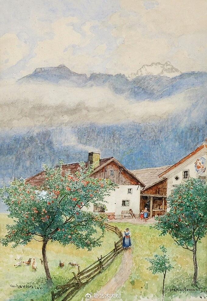 奥地利画家雨果·查勒蒙特风景油画专辑-1Hugo Charlemont(1850–1939
