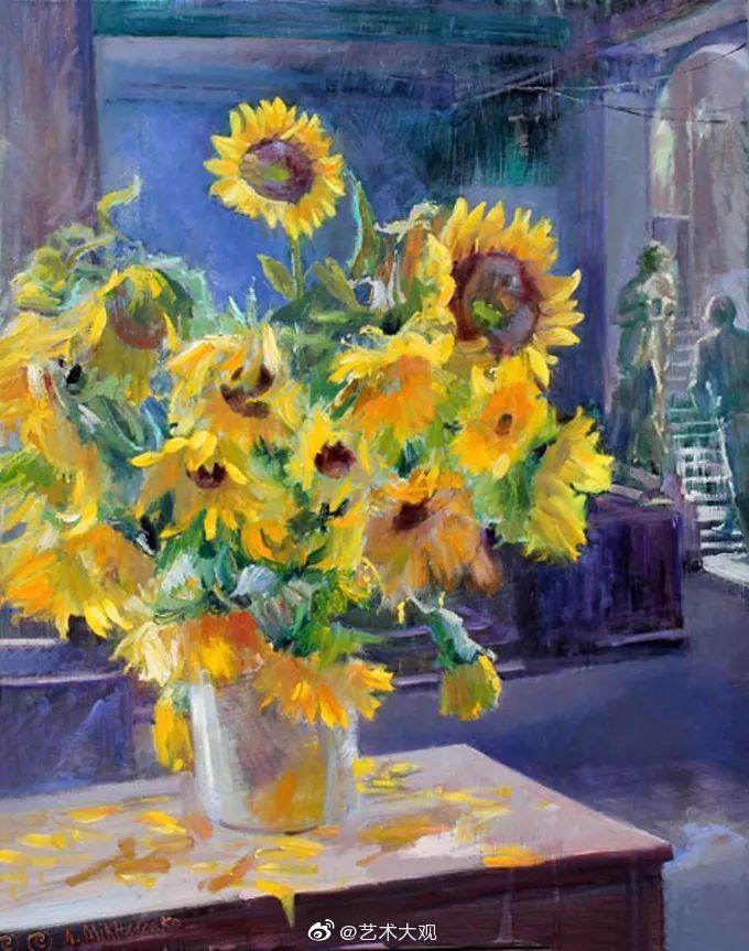 乌克兰画家米哈连科·谢尔盖·维克托罗维奇静物花卉油画作品欣赏-1