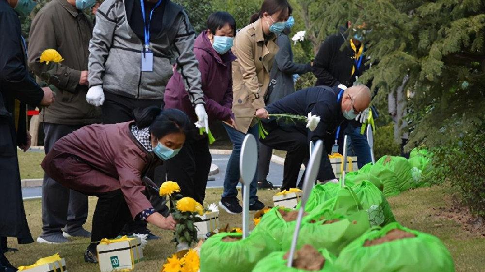 郑州市第十三届公益树葬活动在河南福寿园举行