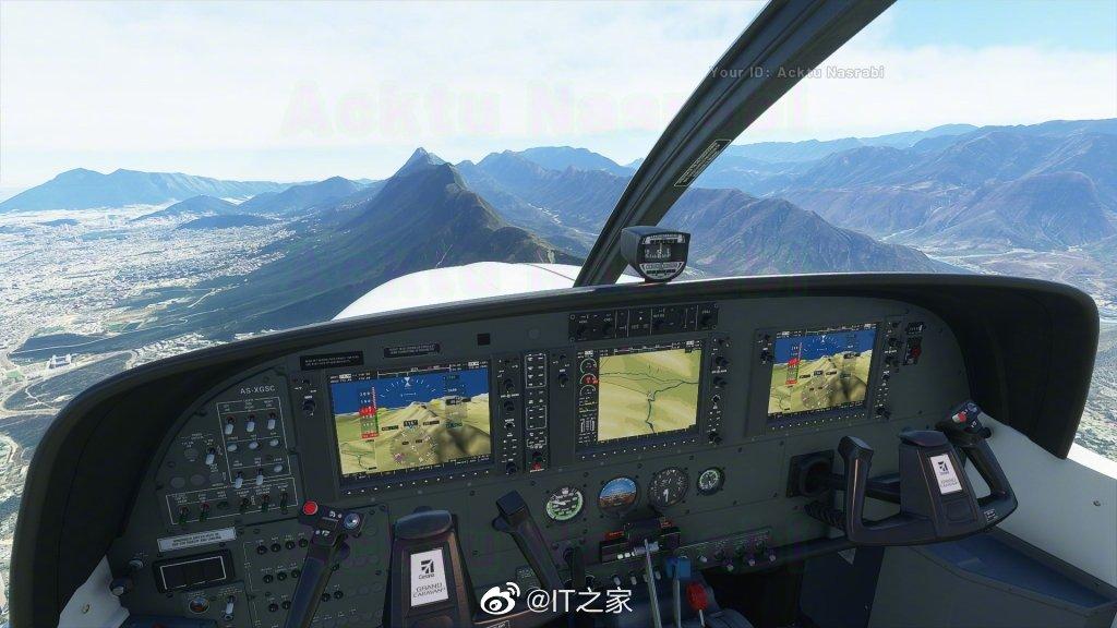 《微软飞行模拟器》新截图:落日余晖,皓月当空