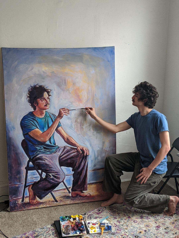 眼花缭乱的自画像芝加哥艺术家 Seamus Wray 效仿了埃舍尔和德罗斯