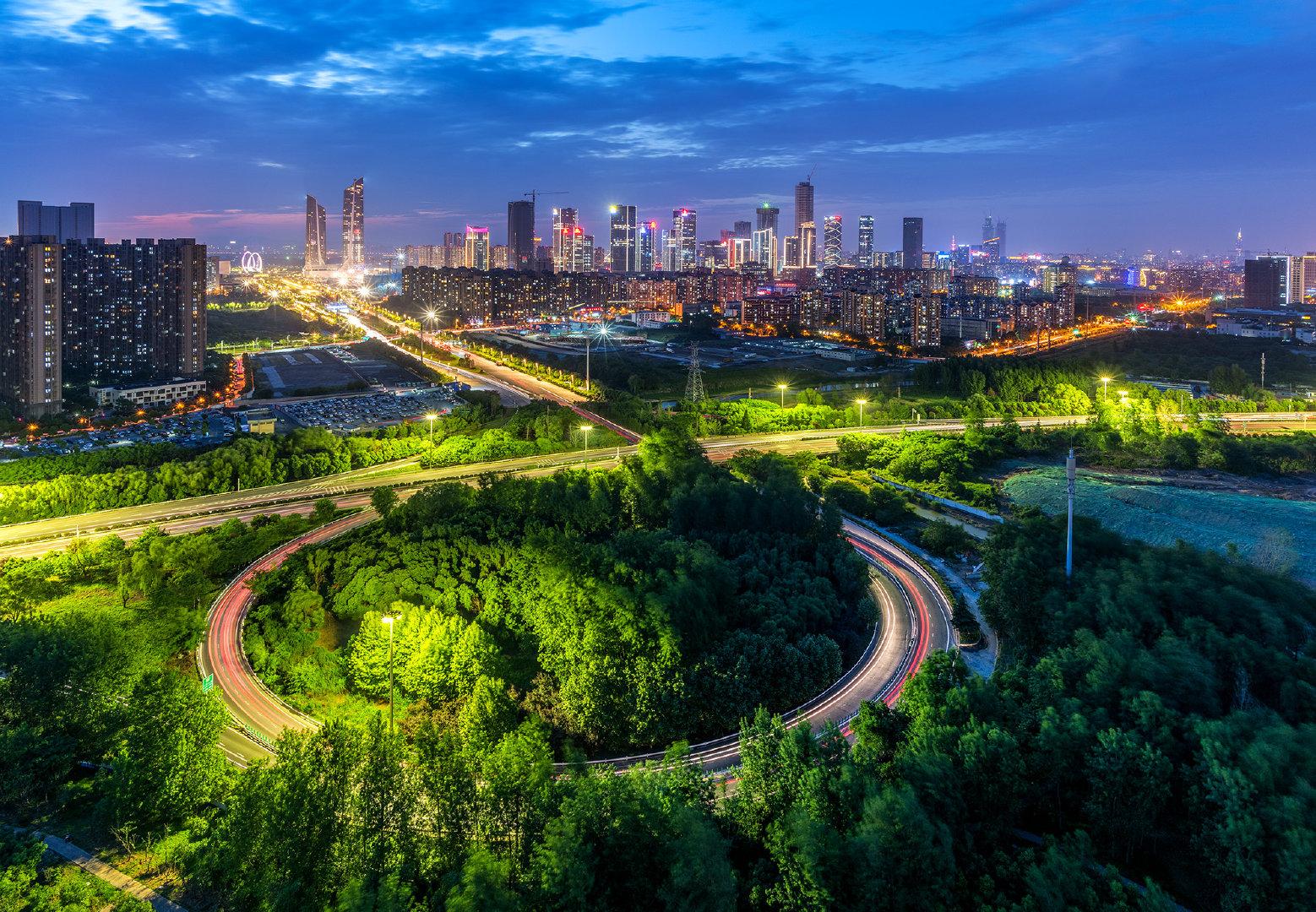 南京城市美景-阅江楼-河西金融城-三桥-长江大桥-中山陵-紫峰大厦-老