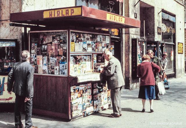 八十年代的布达佩斯街头,由  Sandor Somkuti 拍摄。