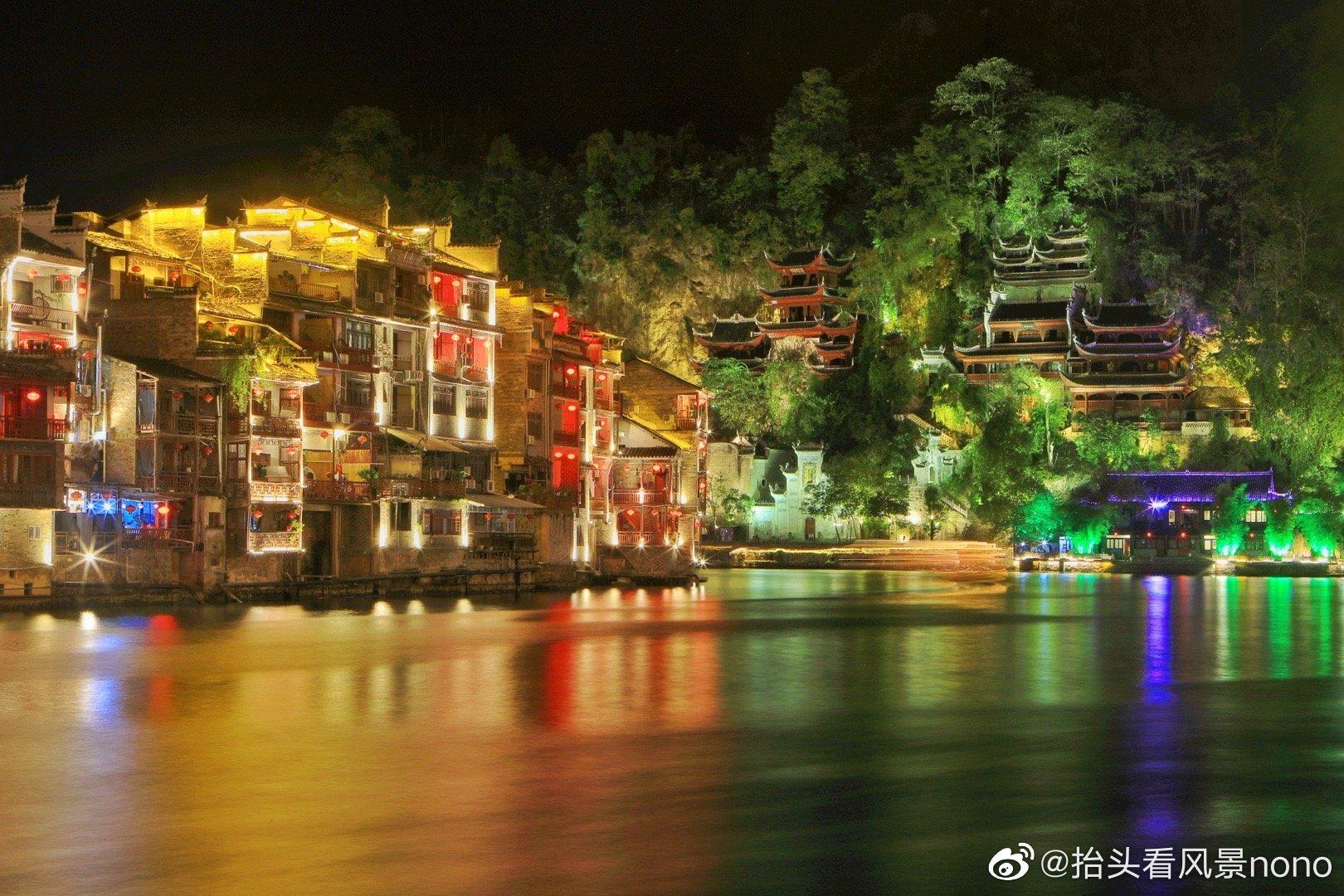 贵州,镇远古城的夜,美的如时光静止一般。舞阳河泛着微光