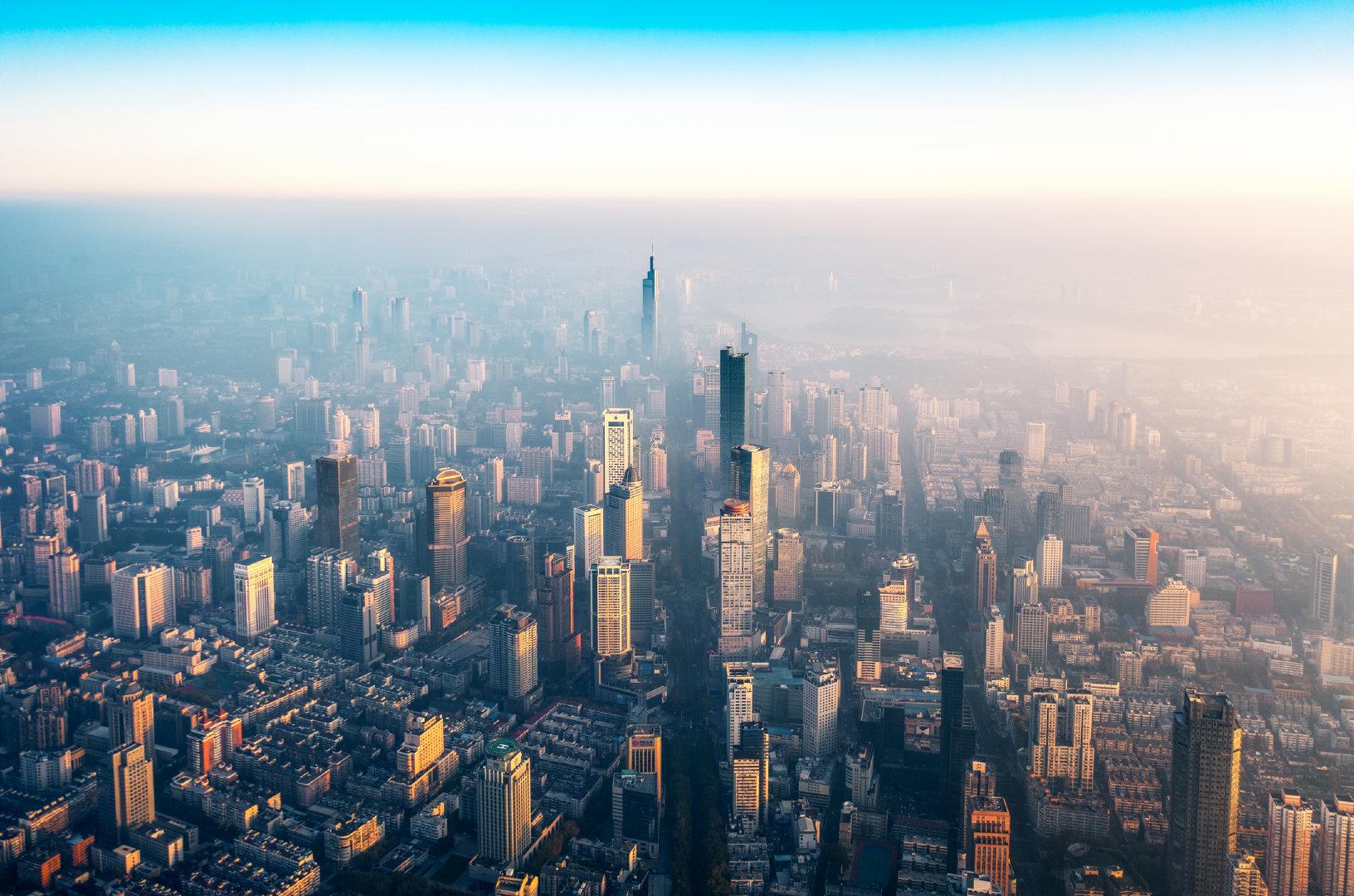 南京城市夜景-双子塔-夫子庙-紫峰大厦-阅江楼