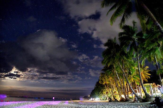 菲律宾的长滩岛,梦幻般的沙滩。
