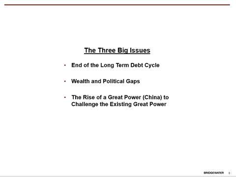 Ray Dalio最新演讲:有生之年,这个时代最大的三个问题