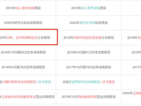 【提醒】云南省2020年中等职业学校招生计划(草案)及录取期间咨询举报电话公布