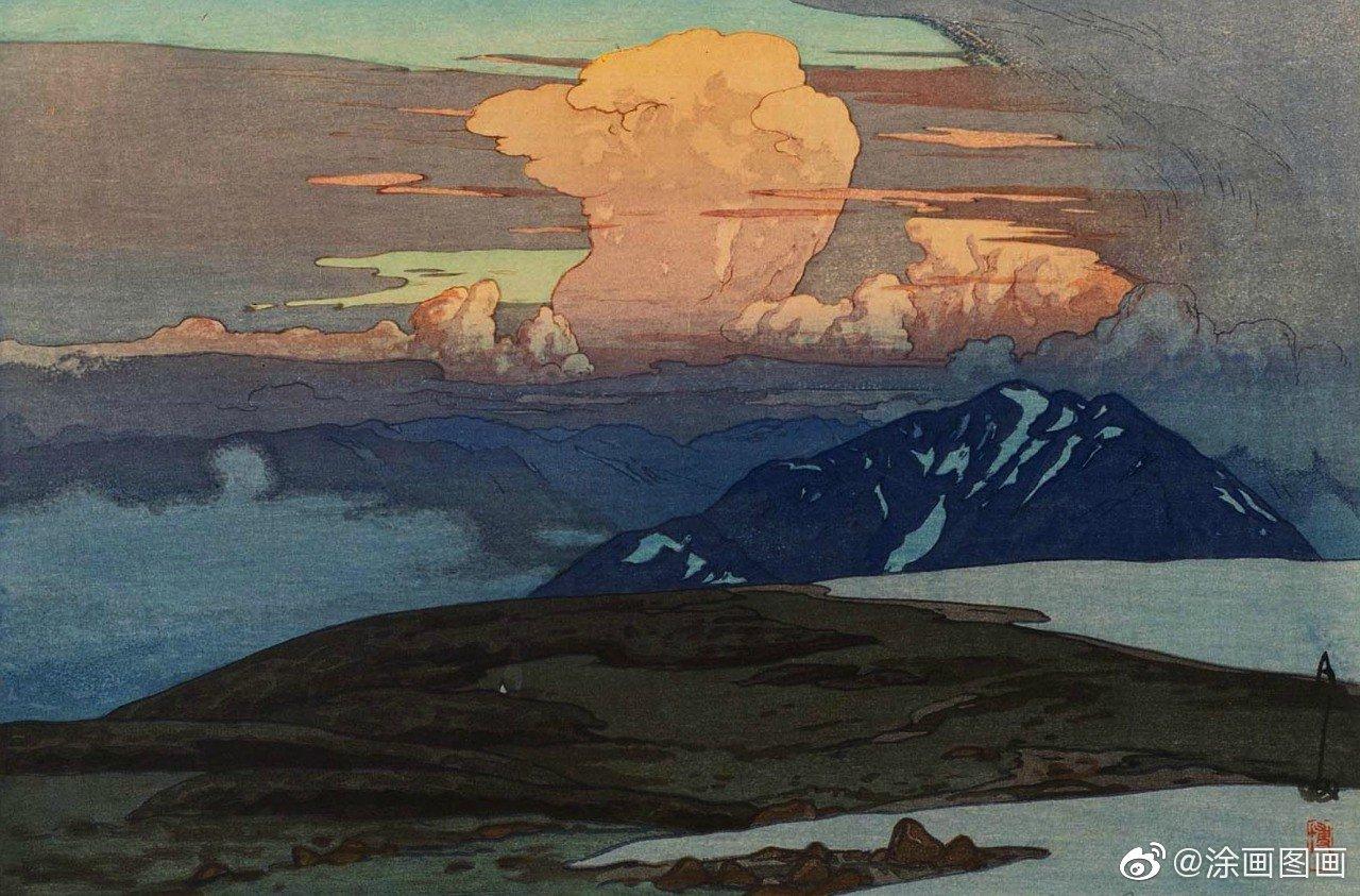 日本版画大师Hiroshi Yoshida 吉田 博 (1876 - 1950)