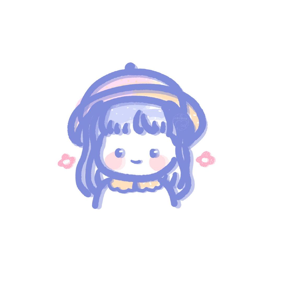 敲阔爱的女生小头像。来自投稿:@小团子爱吃菜