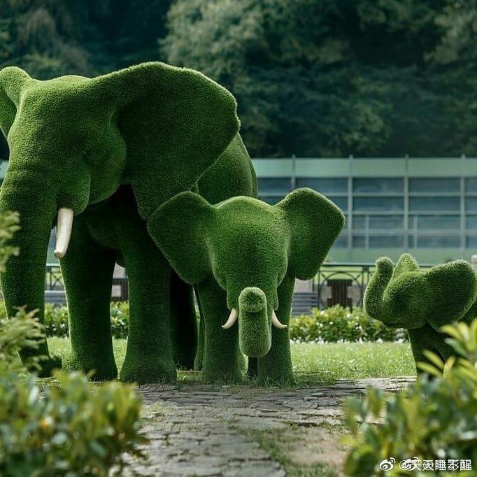 园艺剪刀下的动物园!