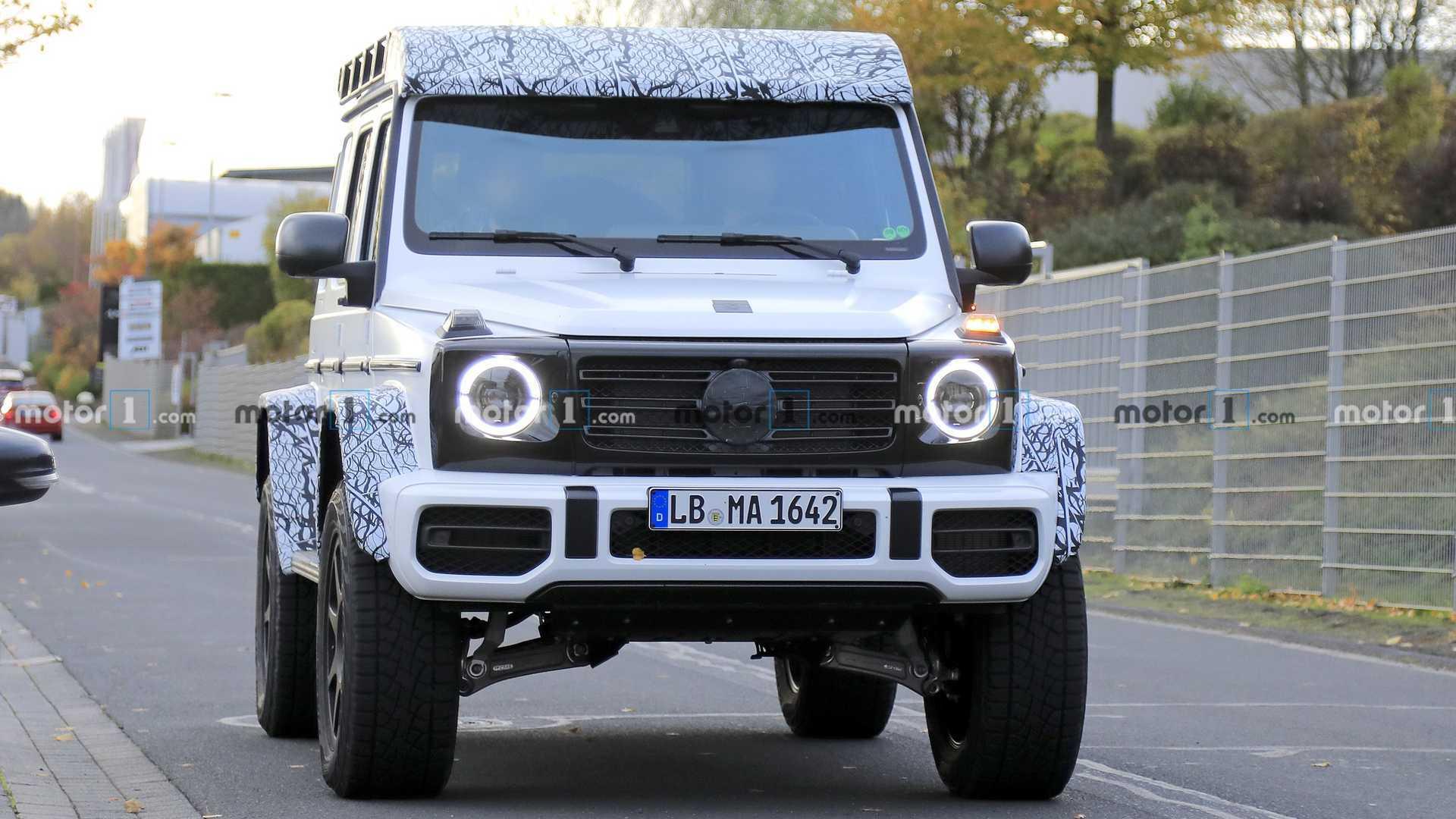 全新奔驰G级4x4²路试谍照,新车预计最快今年底或2021年初发布