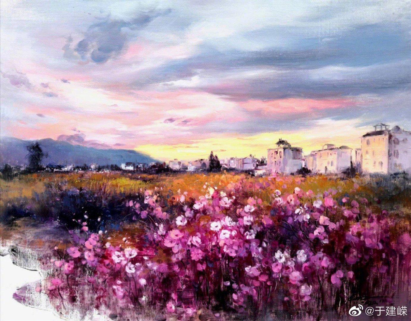 蔡梅之油画作品—《洱海•暮歌》 没有到过大理的人