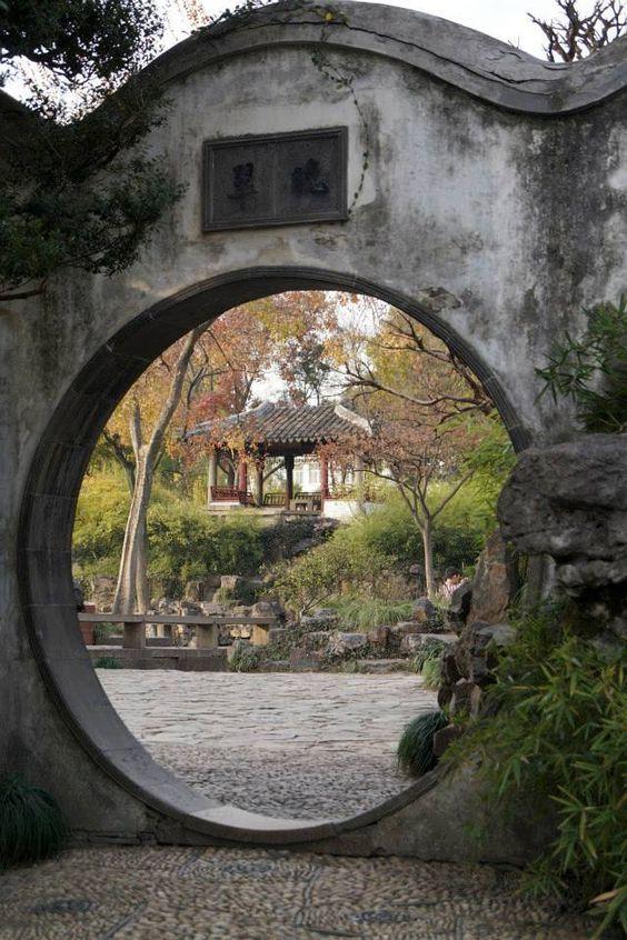 中国古典园林丨门洞