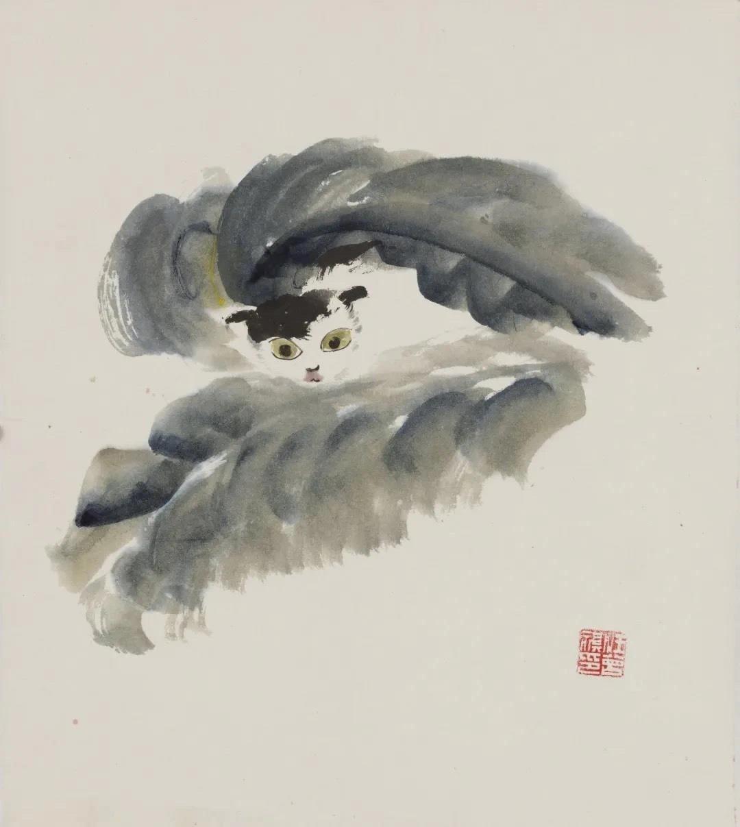 作家汪曾祺的画,有意趣