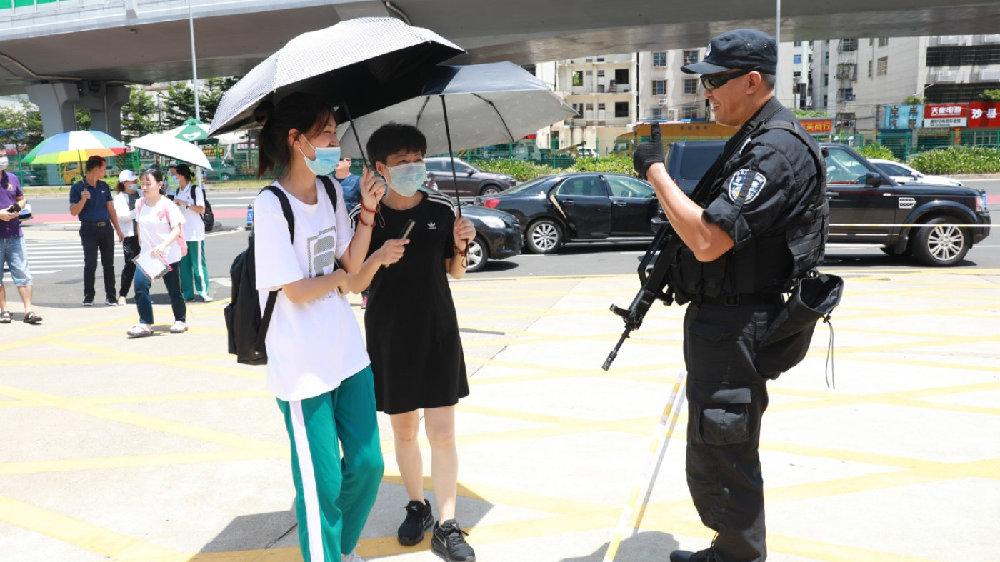 积极作为 全力以赴 海南警方圆满完成2020年高考安保任务