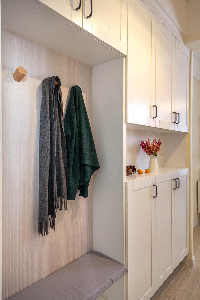 90㎡现代简约风格家居装修设计,客厅装个投影是个不错的选择