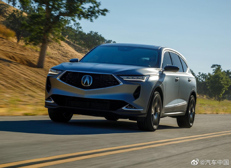 讴歌发布全新一代MDX原型车官图,新车定位中大型SUV