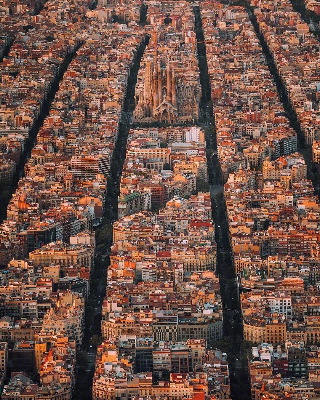 用上帝视角看巴塞罗那