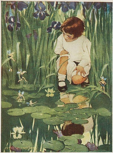 来自美国插画师 Jessie Willcox Smith 笔下的童年