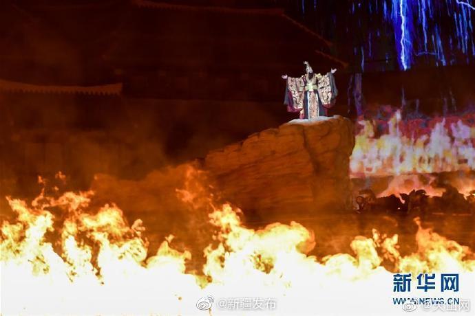 大型实景神话音乐剧《昆仑之约》在上演