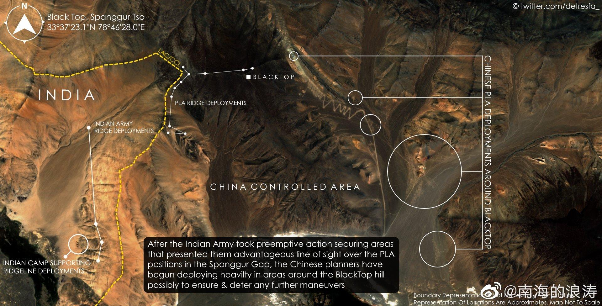 9月11日更新的班公山地区和热钦沟、热琼沟卫星照片