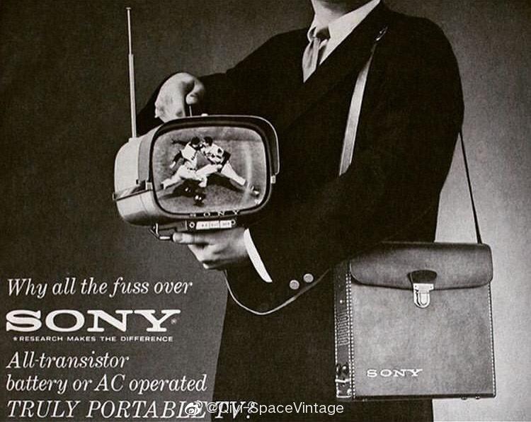 Sony 8-301w 1961世界第一代晶体管电视机.. 📺
